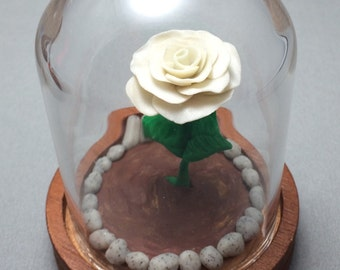 Enchanted Rose, beauty and the beast rose, custom roses, glass rose domes, wedding accessory, gift, for her, handcrafted