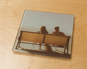 Customized Smooth Glass Trivet (Hot Plate) - Personalized Photo Trivet or Large Coaster