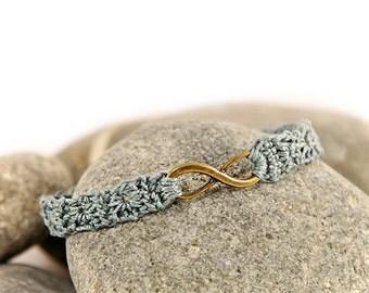 Friendship bracelet - infinity bracelet - best friend - best friend gift - crocheted bracelet - crochet jewelry