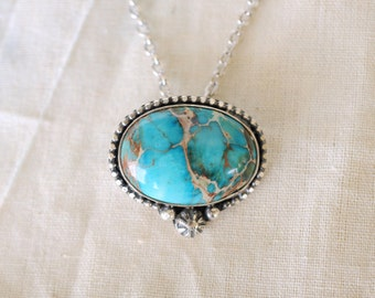 Sterling silver Sea Sediment Jasper necklace