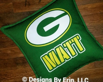 Personalized Green Bay Packers Down Pillow