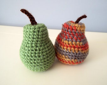Crochet pears Crochet fruits Crochet food Gifts Kitchen decoration Handmade fruits Home decor Crochet art and collectibles Handmade gifts