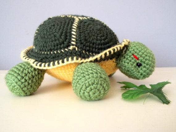 Knitted Amigurumi Sea Creatures : Crochet knitted turtle amigurumi kids stuffed sea animals gift