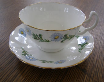 Vintage Mayfair England Bone China Teacup & Saucer Floral Design