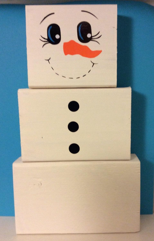 snowman 2x4 snowman winter decor home decor snowman