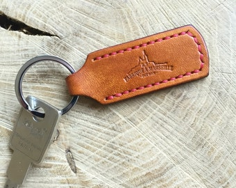 leather keychain personalized