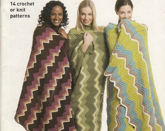 Accessories and Home Decor Knit and Crochet Patterns - Zig Zag Your Way - Bag Crochet Patterns, Pillow Knitting Patterns, Blanket Patterns