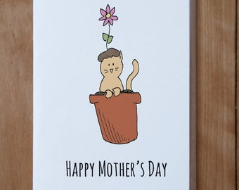 Happy Mother's Day Cat Card - Mother's Day, Cat Mother's Day