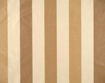 SCALAMANDRE ELEGANT STRIPES Silk Taffeta Fabric 10 Yards Tan Cream