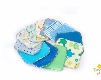 Cloth Wipes/ Fun Prints / Reusable wipes / Baby Wipes / Family Cloth/ flannel wipes / reusable cloths / face cloths / flannelette wipes