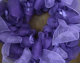 Purple  alzheimer wreath.