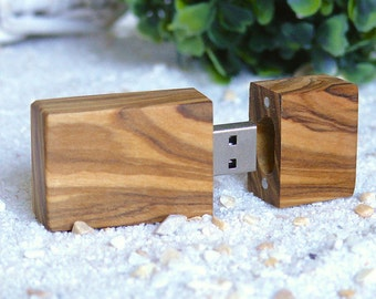 USB-Stick made of olive wood