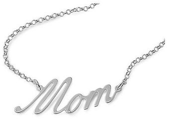 """925 Sterling Silver Mom Necklace - 17"""""""