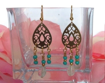 EARRINGS/CANDELIER/GOLDEN