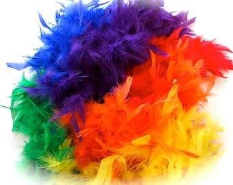 Rainbow Chandelle Boa Craft Supplies Costume Trim FE-104