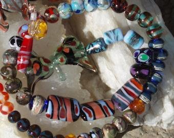 Artisan Glass Beads - Handmade Lampwork Beads – Jewlery Craft Beads -Loose Beads -by- Sunfire Beadery