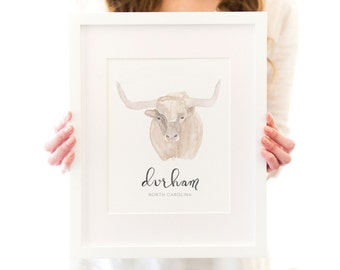 Durham Bull Art Print - Bull City