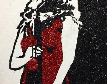 Glitter painting of Haley Reinhart