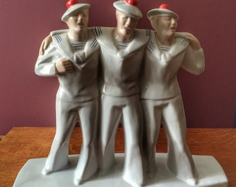 French Matelots Singing sailors Dax Art Deco group