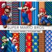 30% OFF SALE Mario Bros digital paper,Mario Bros clipart,scrapbook,background,texture,mario clipart,Super mario bros MB001