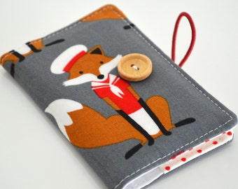 Business card wallet, mini wallet, coffee card wallet - fabulous fox sailor