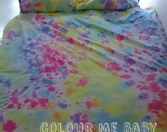 Random Rainbow tye dye duvet cover bedding sheets