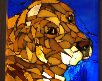 Dog Stained Glass Mosaic #4