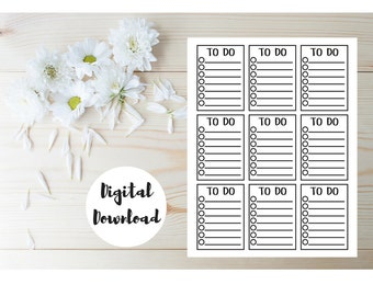 To Do List Printable - To Do List Notebook - To Do List Planner - To Do Stickers - To Do List Notepad - To Do Notepad - To Do Planner