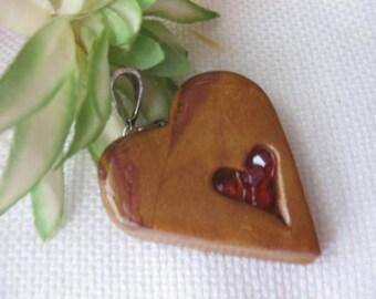 Handmade Valentines Heart Pendant