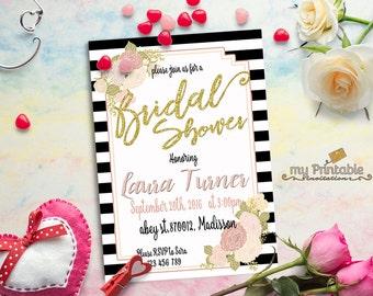 Printable Bridal Shower Invitation / Bridalshower