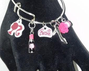 I Love Barbie Adjustable Bangle Bracelet