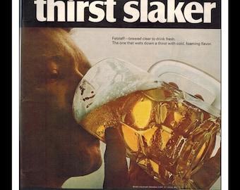 "Vintage Print Ad June 1968 : Falstaff Beer Advertisement Wall Art Decor Color 8.5"" x 11"""
