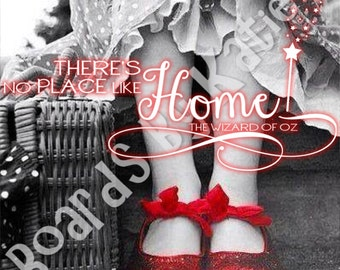 DIGITAL COPY - Personalized, Room Decor, Gift Ideas, Graduation Gift, Dorothy, Wizard of Oz, Ruby Red Slippers, Glinda, Wicked Witch