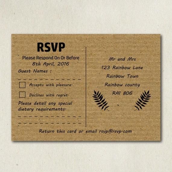 rsvp card printing