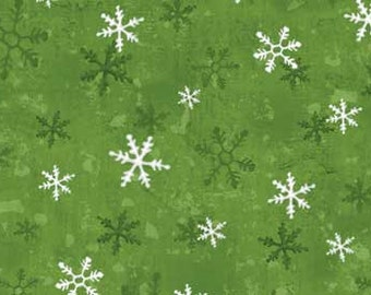 Red Rooster Home for the Holidays Snowflakes - 25940 Green