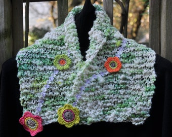 """Col knitted hand """"A spring in winter"""""""