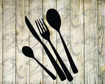 0179_Cutlery,Vector,Fforks, Spoons, Silhouette , Kitchen Clipart, Cooking Clipart,SVG,dxf,ai,png,eps, jpg,Download files, Digital, graphical