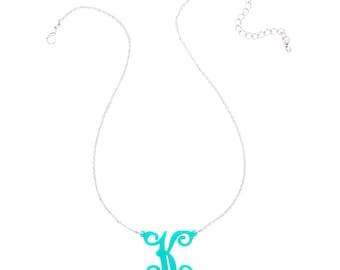 Single Initial Acrylic Necklace