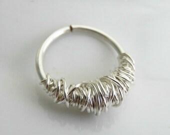 septum piercing - nose jewelry - septum hoop ring - cartilage piercing ring