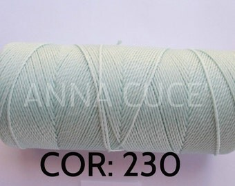 COR: 230 Choose from 10 - 20 m waxed thread LINHASITA thick, wire 1mm for macramé, materials.