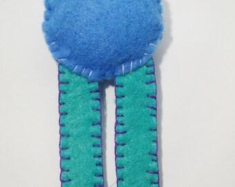 phospholipid felt brooch