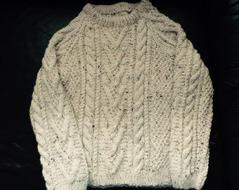 Childs Cream Aran Sweater