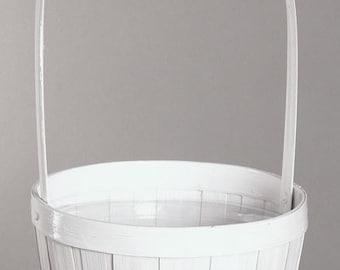 Flower Girl Basket- Natural White Woodchip Basket