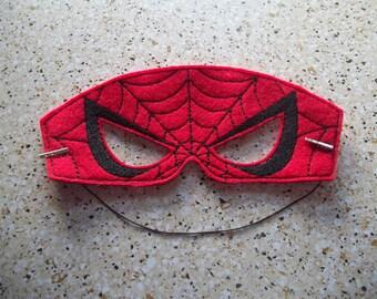 Spiderman machine embroidered mask