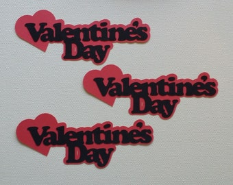 Valentine's Day with Heart Die Cut Set of 3