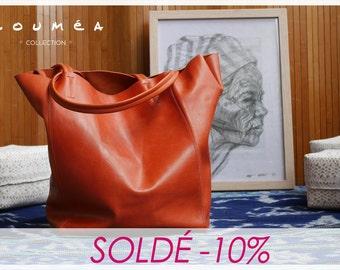 TOTI - Orange Leather handbag