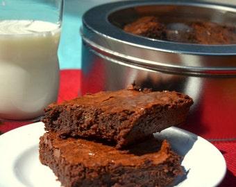 Chocolate Brownies, Brownie Squares, Gourmet Brownies, Luxury Brownies, Homemade Brownies, College Care Package, Artisianal Brownies,