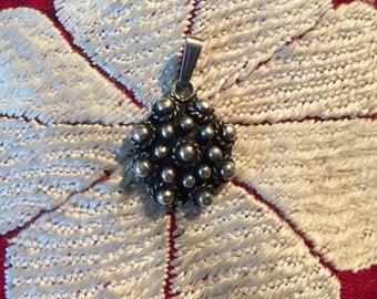 Sterling Silver Pendant-Flower Pendant-Handmade Vintage Pendant-Ethnic-Hippy-Gypsy-LV39