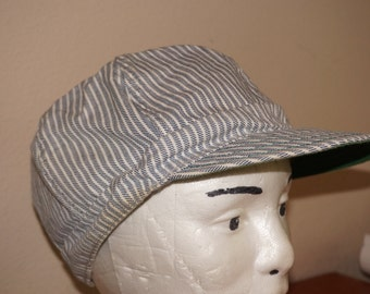 Vintage Kromer Railroad Conductor Cap Hat Sz 7 3/4 or 62 Union Made in the USA Welding OS
