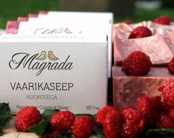 Raspberry coconut soap
